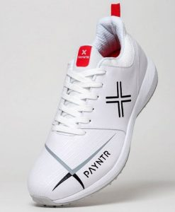 payntr-cricket-v-pimple white rubber cricket shoes