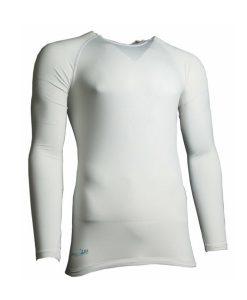 Precision-compression-baselayer-shirt-white
