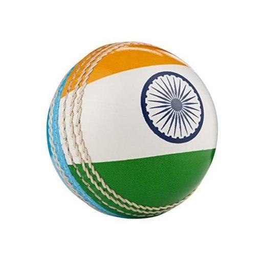 India flag hard leather cricket ball